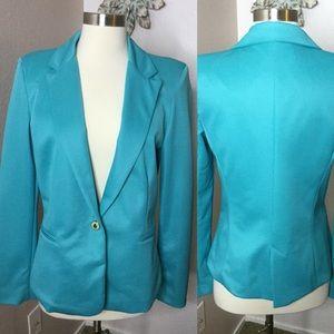 Zara Woman Blazer Size Large Blue Green Color